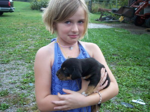 Girl and Pup