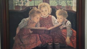 girls-reading-painting
