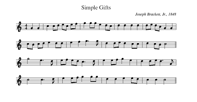 Simple Gifts A Shaker Song That Went Out Into The World